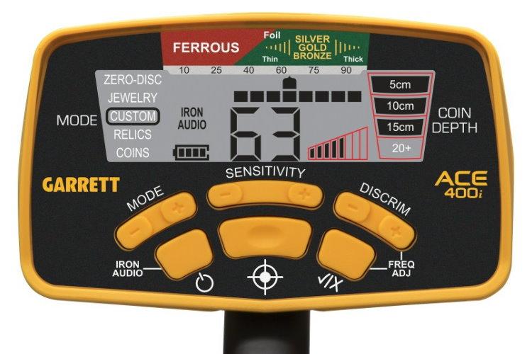 Garrett ACE 400i+ Metalldetektor & CORS Strike Hochleistungsspule (Tiefenortungspaket)